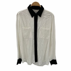 Equipment Austine Two Pocket Button White Shirt L